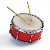 picture of parade  - Bass drum isolated on white - JPG