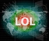 stock photo of lol  - social concept - JPG