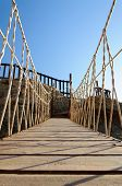 Rope Bridge Made Of Wooden Planks