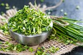 Bowl With Fresh Cutted Chives