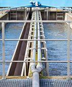 Clarifiying basin in modern sewage plant