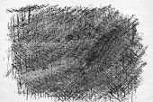 stock photo of charcoal  - Charcoal hand drawing texture.