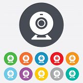 Webcam sign icon. Web video chat symbol.