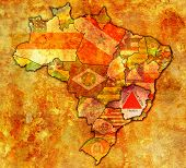 Minas Gerais State On Map Of Brazil