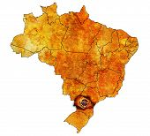 Parana State On Map Of Brazil
