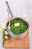 pan with pea and butter
