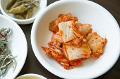 picture of kimchi  - Kimchi salad of korean food traditional on dish - JPG