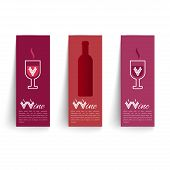 Banners Set On Wines Vector