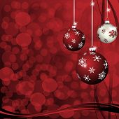 Christmas-Maroon & Silver Balls
