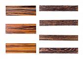 Seven golden wood panels