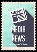 picture of mass media  - Media News on Light Blue Background - JPG