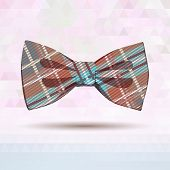 Tartan bow-tie in pastel colors