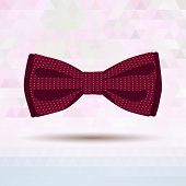 Bordo vector bow-tie patterned by dots