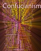 Confucianism Word Cloud Glowing