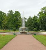 The Italian Fountain. Peterhof (petrodvorets)