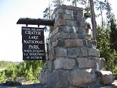 Crater Lake Entry Sign