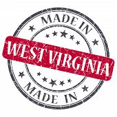 Made In West Virginia Red Round Grunge Isolated Stamp