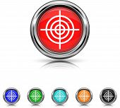 Target Icon - Six Colors Vector Set