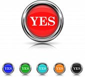 Yes Icon - Six Colors Vector Set