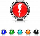 Lightning Icon - Six Colors Vector Set