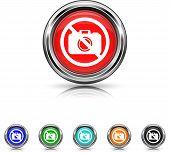 Forbidden Camera Icon - Six Colors Vector Set