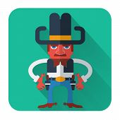 picture of gunfighter  - Cowboy with guns - JPG