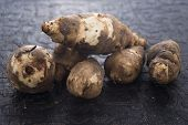 image of jerusalem artichokes  - Jerusalem artichoke, topinambur, tuberosus, root vegetable, food