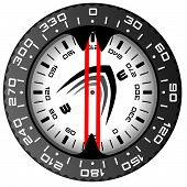 Black And Red Compass.eps