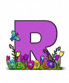 Alphabet Easter Egg Garden R