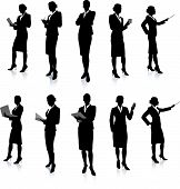 Businesswoman Silhouette Collection