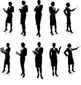 Colección de silueta de mujer de negocios
