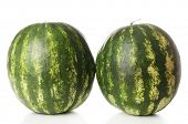 Whole watermelons isolated on white