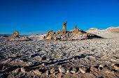 Tres Marias Rocks In Valle De La Luna Near San Pedro De Atacama, Chile
