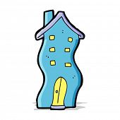 cartoon wobbly house