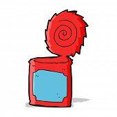 cartoon open tin can