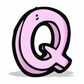 cartoon letter Q