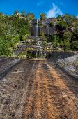 Steep Waterfall In Carretera Austral, Highway 7, Chile