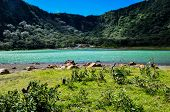 Old Volcano's Crater Now Turquoise Lake, Alegria, El Salvador