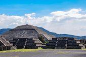Pyramid Of Moon, Teotihuacan, Aztec Ruins, Mexico