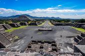View Of Teotihuacan Ruins, Aztec Ruins, Mexico