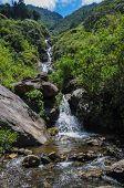 Waterfall In Banos Santa Agua, Ecuador