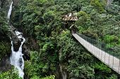 picture of suspenders  - Suspended Bridge In Banos Santa Agua, Ecuador