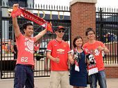 Manchester United Fans At The Stadium