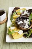Balsamic Portobellos And Grilled Polenta
