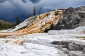 Mammoth Terraces, Yellowstone National Park, Wyoming, Usa