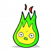 picture of fireball  - cartoon friendly fireball - JPG
