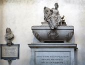 Niccolo Machiavelli's Tomb In The Basilica Of Santa Croce, Florence