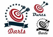 Darts sporting symbols and emblems