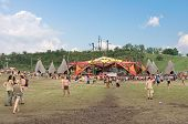 Ozora, Hungary - August 01: Main Stage On Ozora Festival, One Of The Greatest Psychedelic Music Gath
