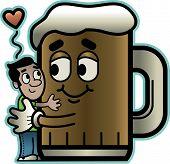Mann liebt Bier